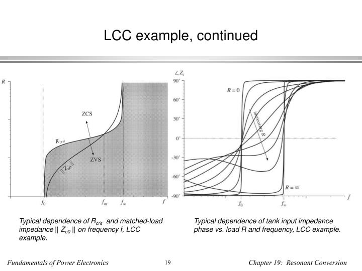 LCC example, continued