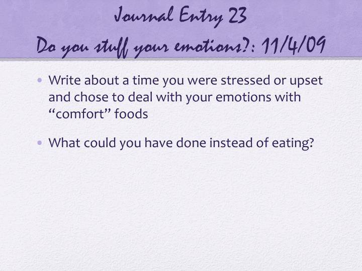 Journal Entry 23