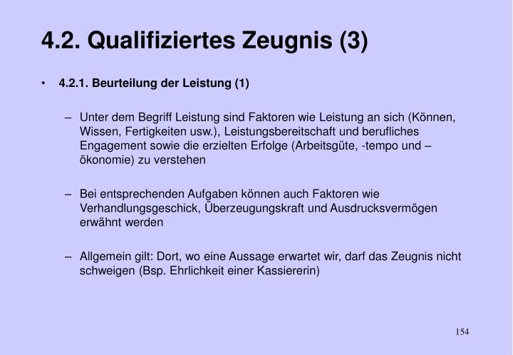 4.2. Qualifiziertes Zeugnis (3)