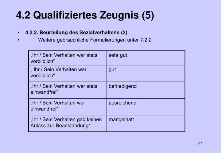 4.2 Qualifiziertes Zeugnis (5)