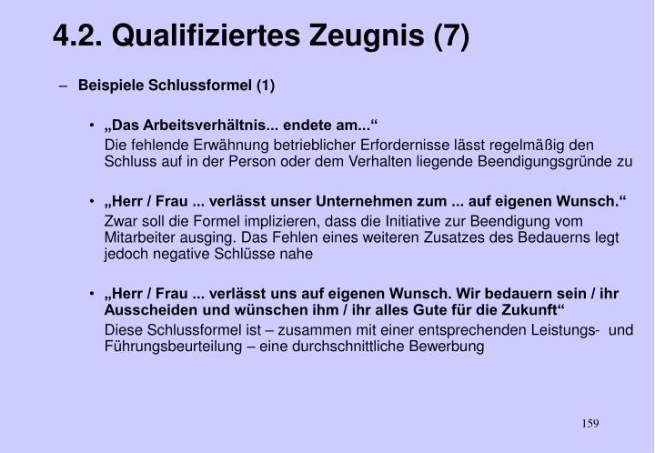 4.2. Qualifiziertes Zeugnis (7)