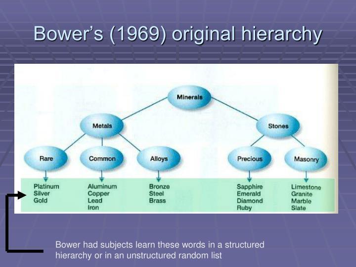 Bower's (1969) original hierarchy