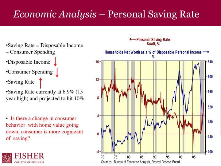 Economic Analysis –