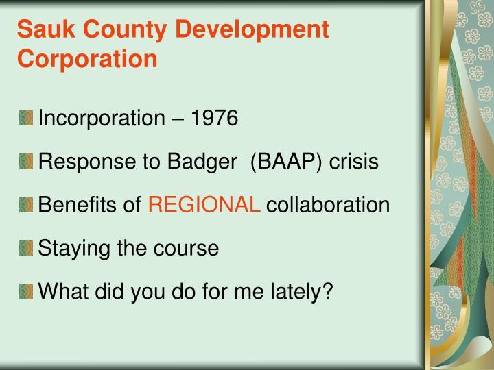 Sauk County Development Corporation