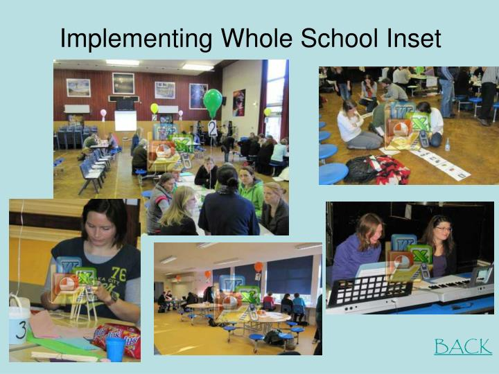 Implementing Whole School Inset