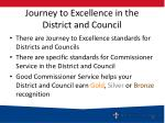 journey to excellence in the district and council