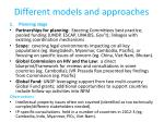 different models and approaches