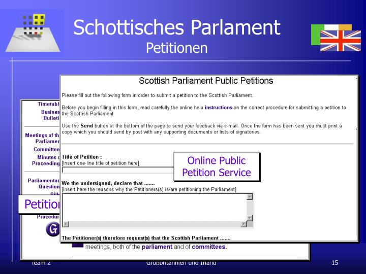 Schottisches Parlament
