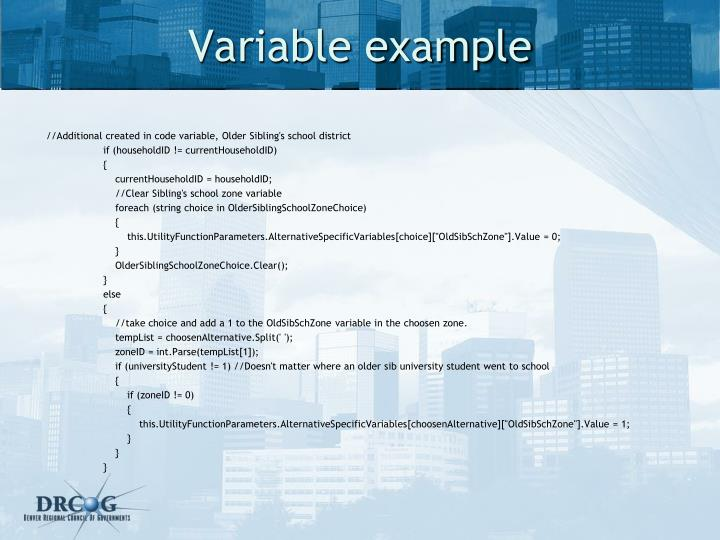 Variable example
