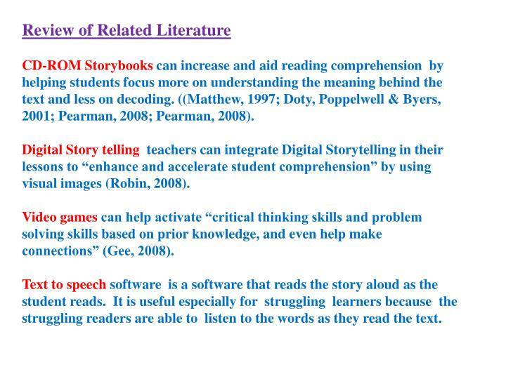 review of related literature meaning