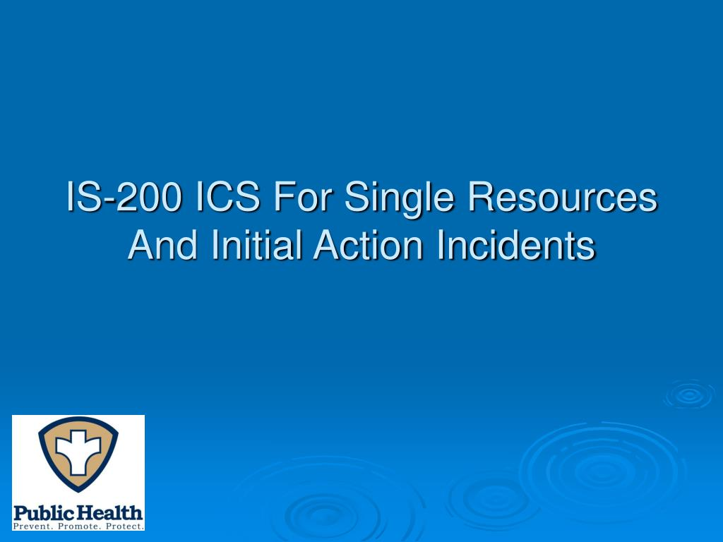 PPT - National Incident Management System (NIMS) & Incident Command