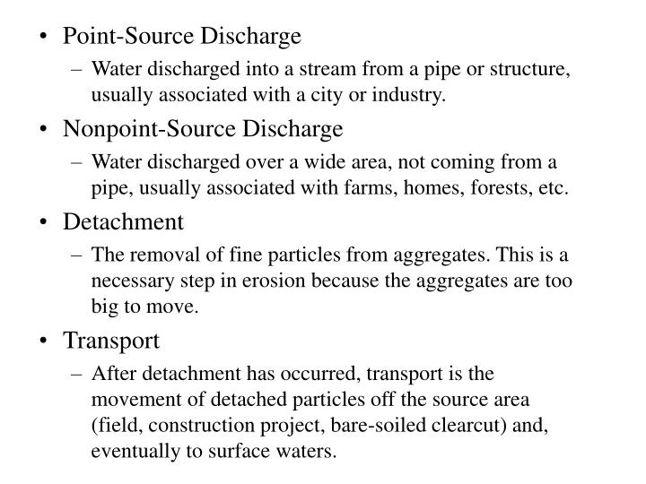 Point-Source Discharge