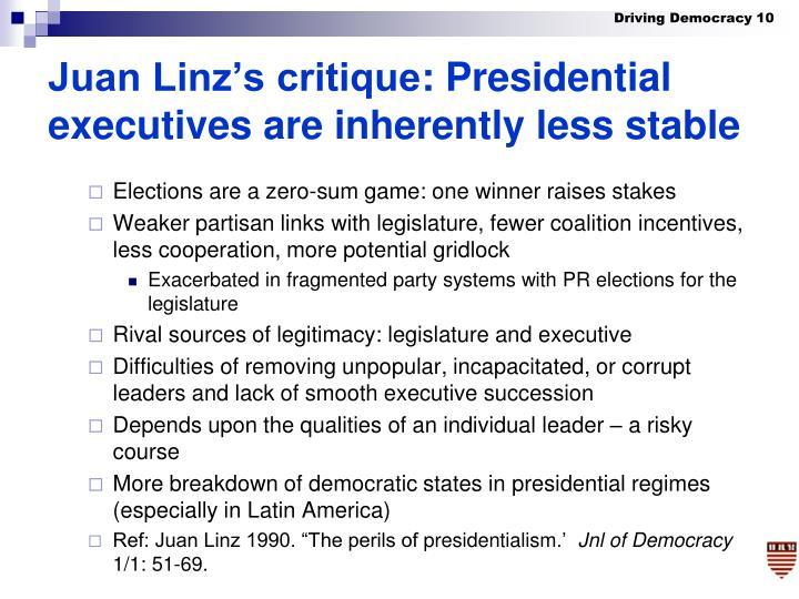 Juan Linz's critique