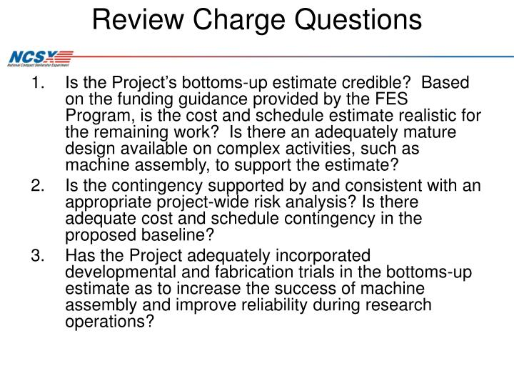 Review Charge Questions