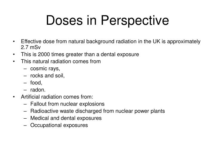 Doses in Perspective