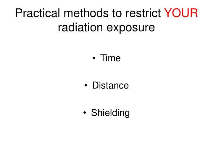 Practical methods to restrict