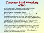 component based networking cbn