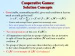 cooperative games solution concepts