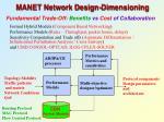 manet network design dimensioning