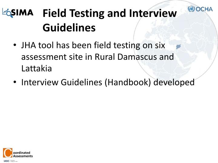 Field Testing and Interview Guidelines