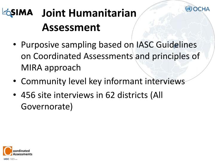 Joint humanitarian assessment
