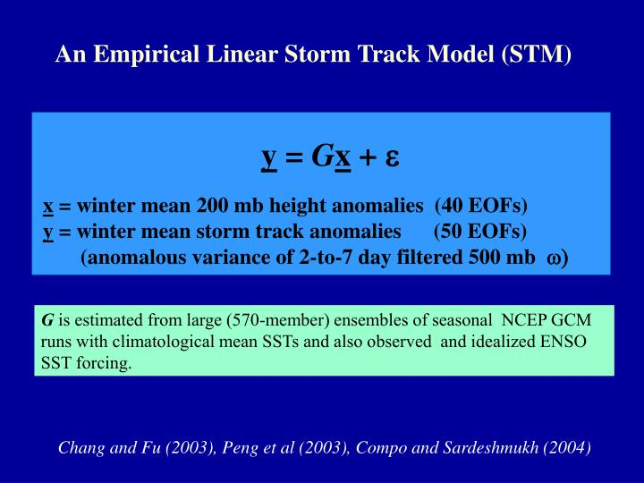 An Empirical Linear Storm Track Model (STM)