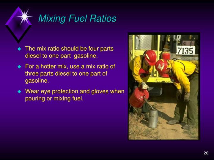 Mixing Fuel Ratios