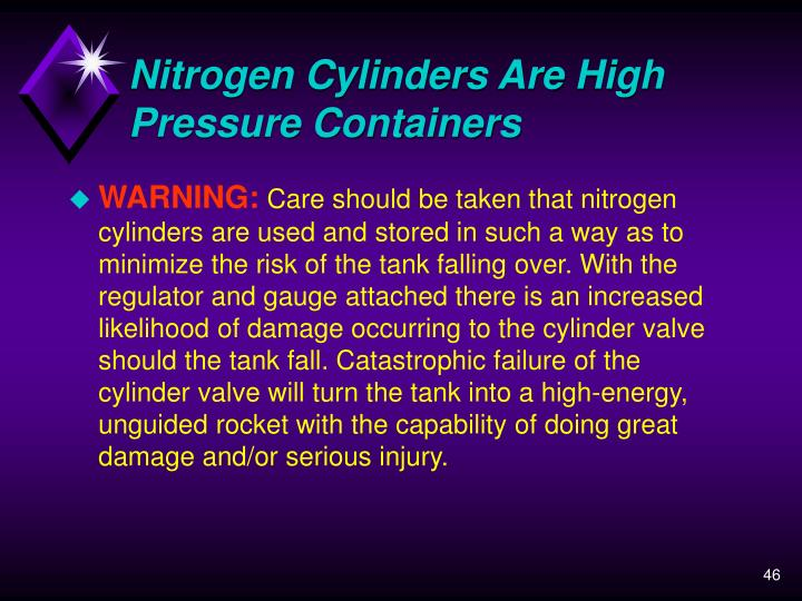 Nitrogen Cylinders Are High Pressure Containers