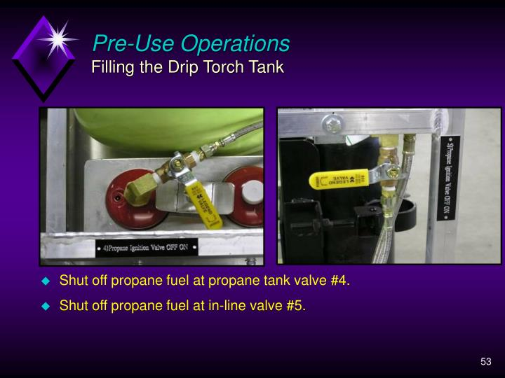 Pre-Use Operations