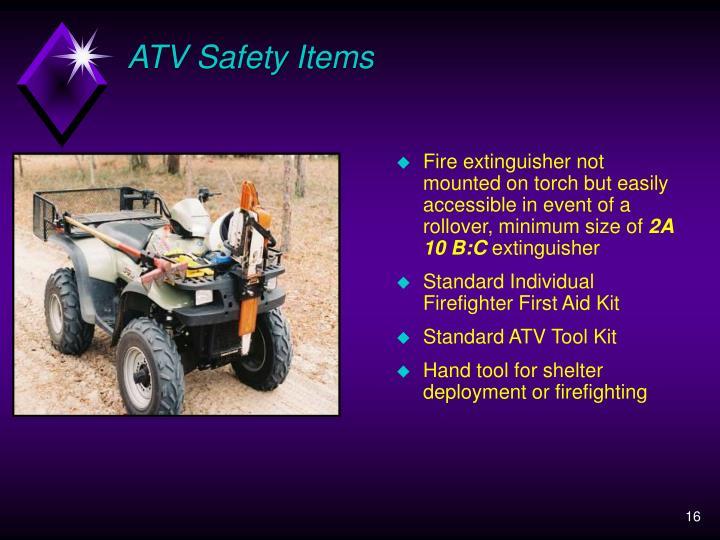 ATV Safety Items