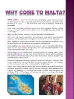 why come to malta