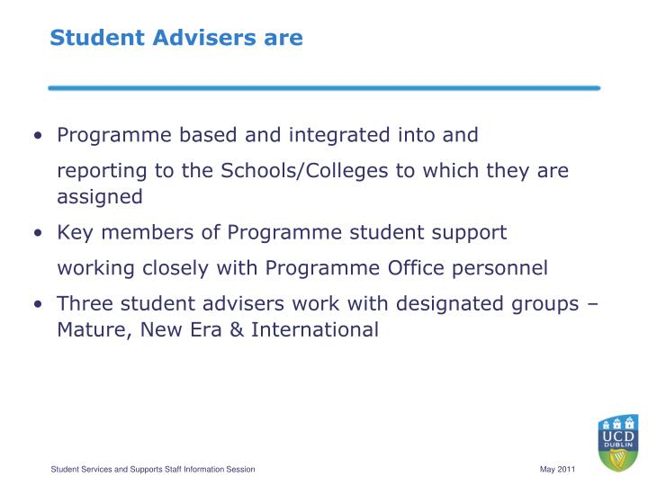 Student Advisers are