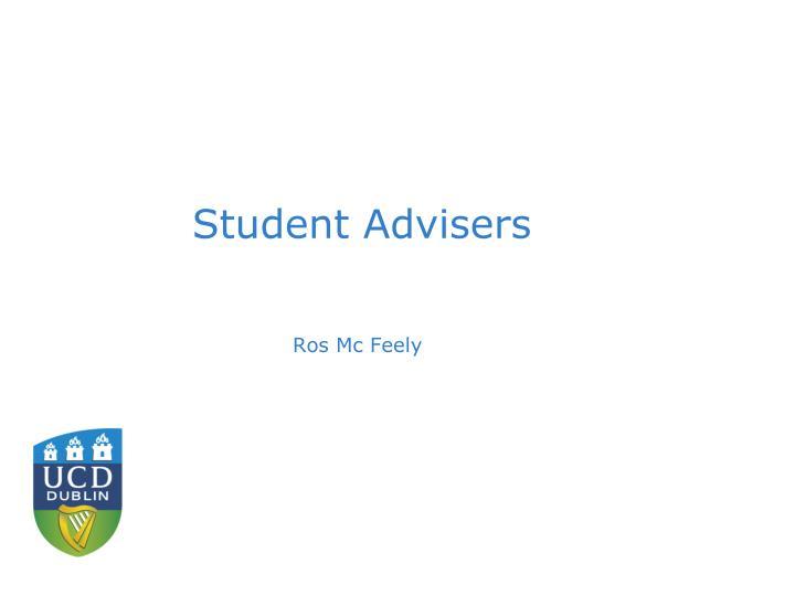Student Advisers