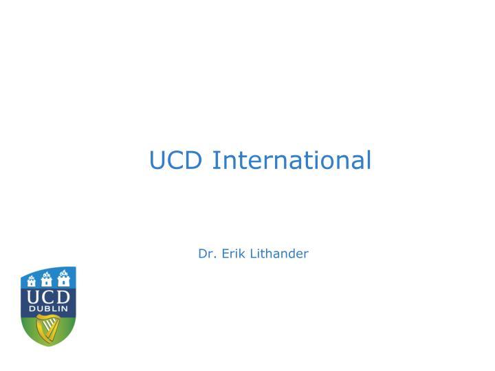 UCD International