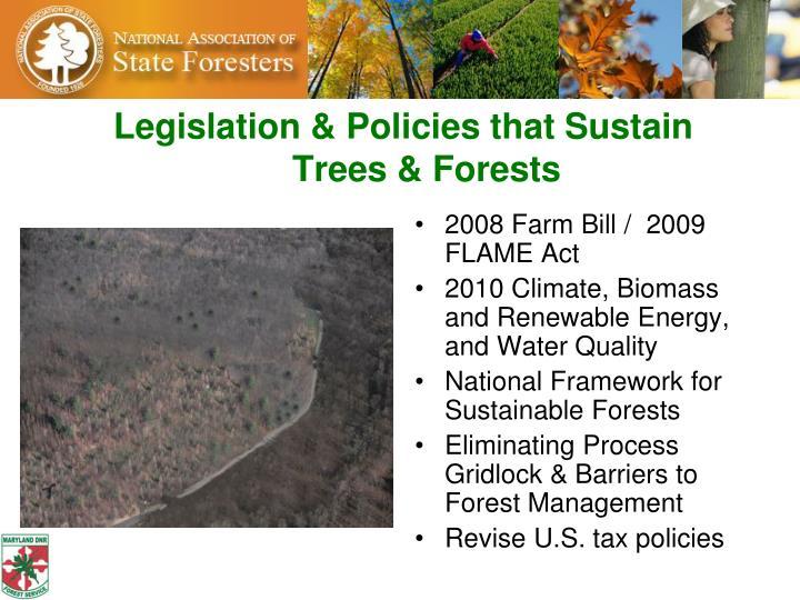 Legislation & Policies that Sustain
