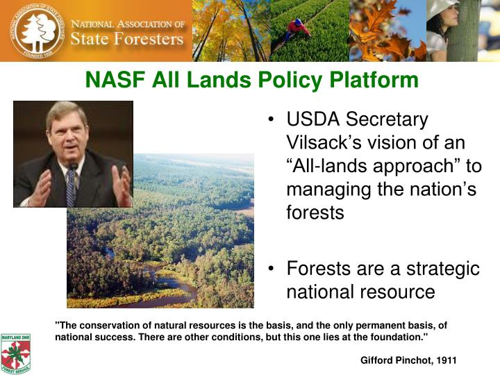 Nasf all lands policy platform
