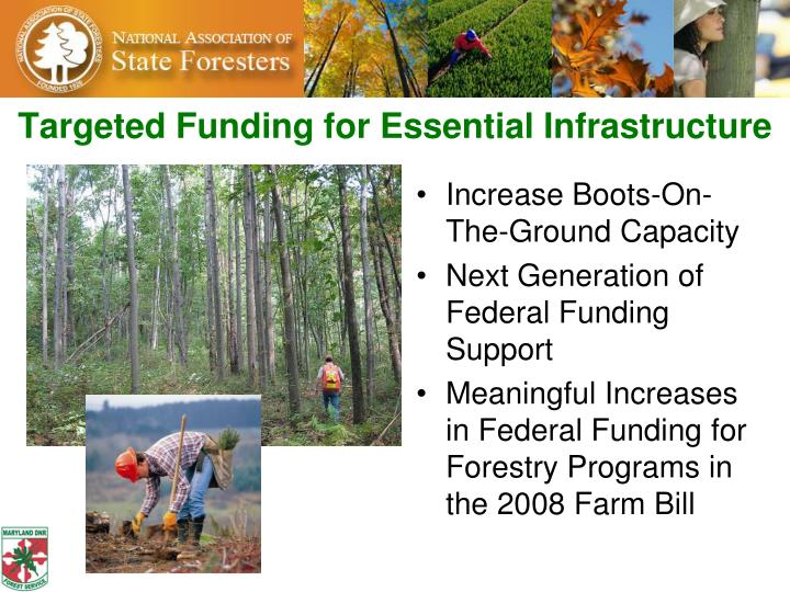 Targeted Funding for Essential Infrastructure
