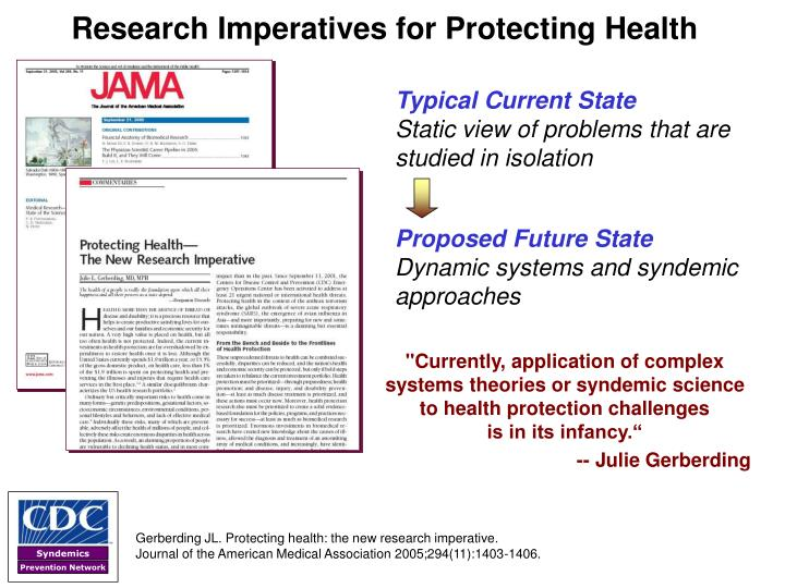 Research imperatives for protecting health