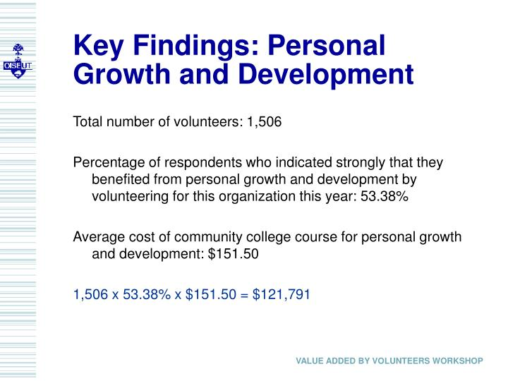 Key Findings: Personal Growth and Development