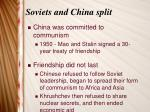 soviets and china split