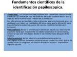 fundamentos cient ficos de la identificaci n papiloscopica
