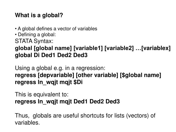 What is a global?