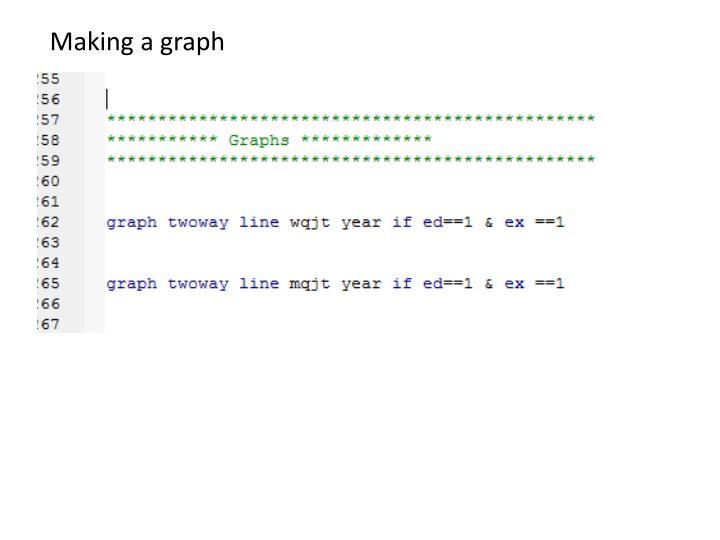 Making a graph