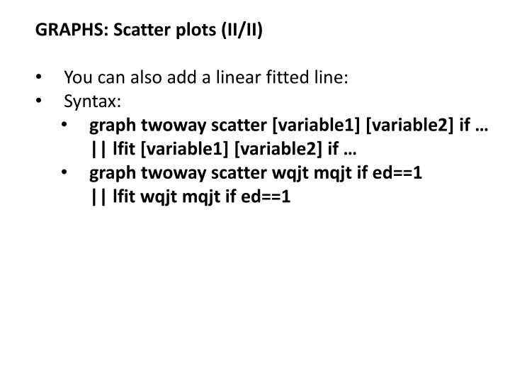 GRAPHS: Scatter plots (II/II)