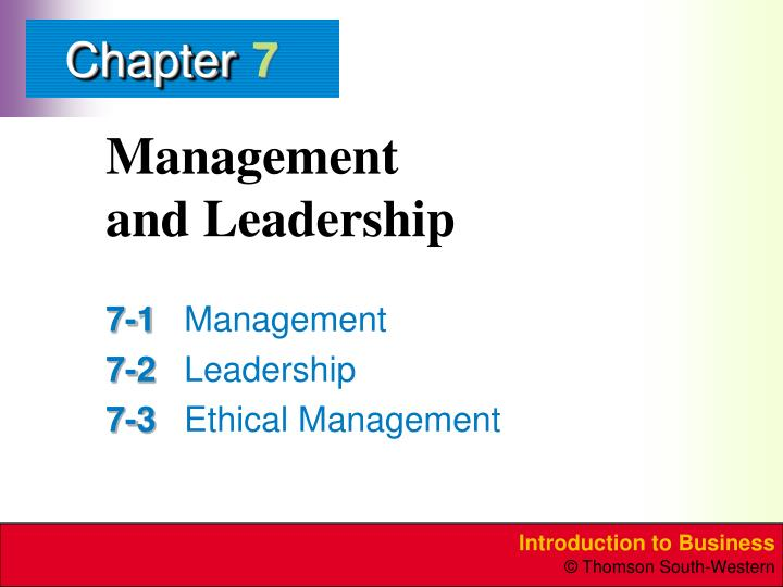 management and leadership n.