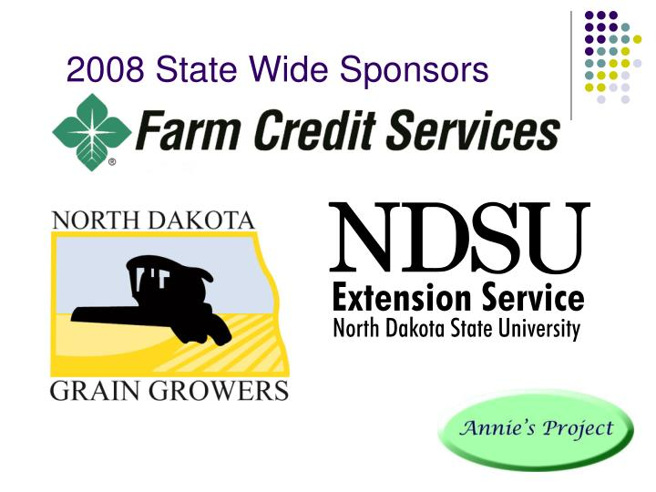 2008 State Wide Sponsors