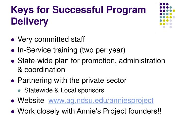 Keys for Successful Program Delivery