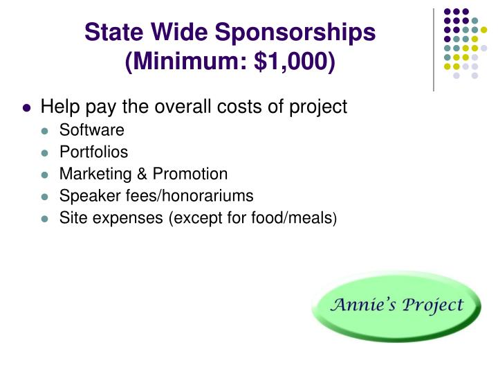 State Wide Sponsorships