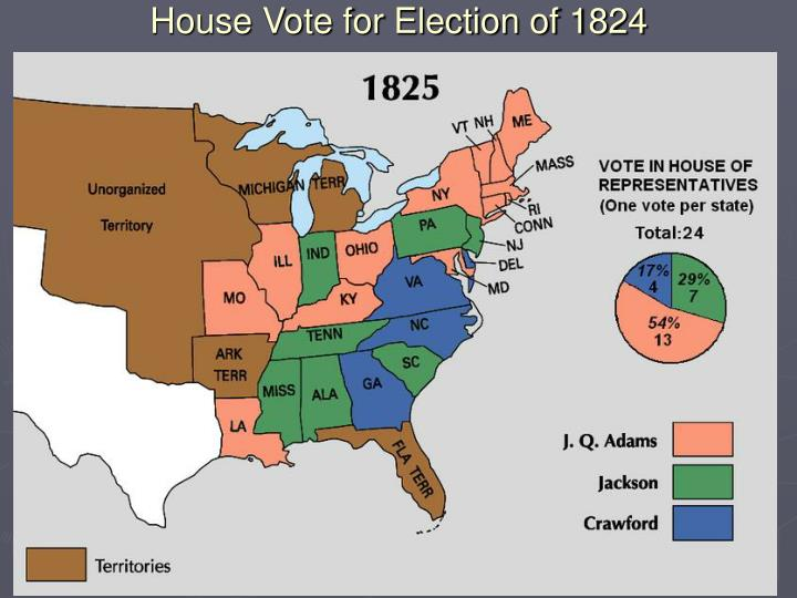 House Vote for Election of 1824