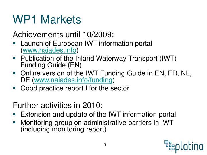 WP1 Markets